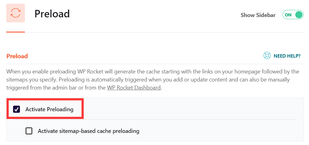 WP Rocket Preload优化设置